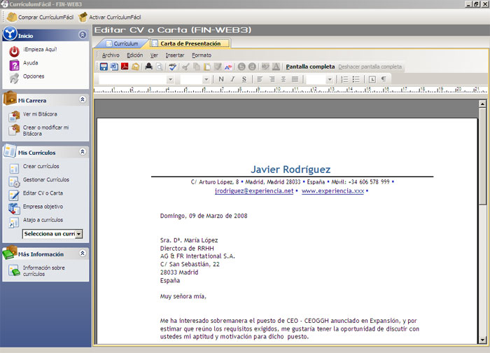 software offers more than 25 000 professionally designed cover letter - Ejemplo De Cover Letter